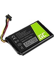 Accu, batterij Green Cell ® AHA11111008 voor GPS TomTom Go 540 5000 5100 5250 Pro 6000 6200 Truck 5250 Trucker 5000, (Li-Ion cellen 1100mAh 3.7V) jaar lange garantie, geavanceerde beveiliging