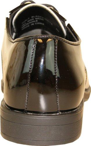 Vangelo Heren Smoking Schoen Tux-7 Tweekleurige Kleur Mode Moc Teen Met Kreukvrij Materiaal Zwart En Wit Patent 13w