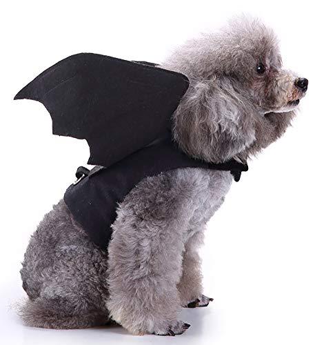 MaruPet Halloween Pet Bat Wings Costume for Cat Dog Cat Kitty Bat Wings Costume Dress up Cat Kitty for Halloween Festival– Black L ()