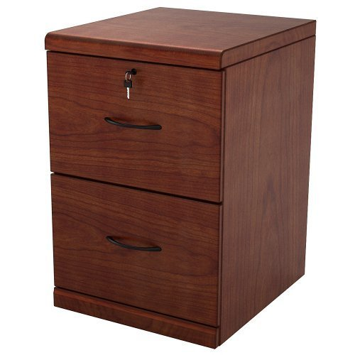 Z-Line Designs 2-Drawer Vertical File Cherry Cabinet with Black Accents ()