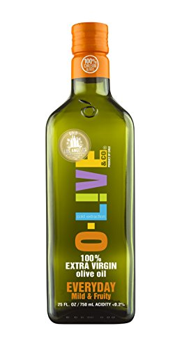 O-Live & Co. Everyday Extra Virgin Olive Oil - 25 Fl Oz (Glass Bottle)- Non GMO-Kosher