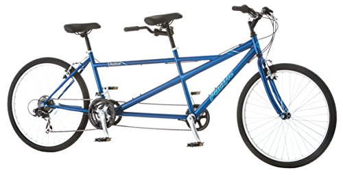 (Pacific Dualie Tandem Bicycle w/ 26inch Wheels,Blue, One Size)