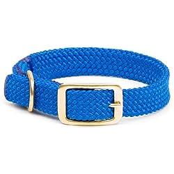 Mendota Products Collar de Trenza Doble para Perro, 2.54 cm por 61 cm, azul