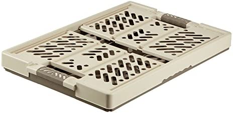 2 x KLAPPBOX gris Transport Souple Boîte de rangement STABLE empiler PP Box