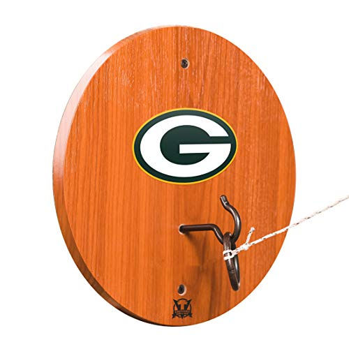 Bay Dart Packers Green (Victory Tailgate Green Bay Packers Hook & Ring Toss - All Wood Target with Rubbed Bronze Hook and Ring - More Teams Available)