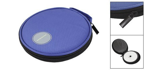 DealMux VCD Closure Sleeve CD Royal Blue Zipper Nylon Ray Capacity Bag 20 Holder Blu rnUprq8BW