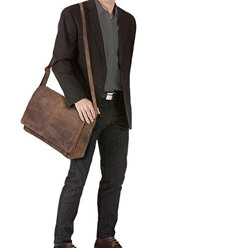 studente l'università vintage Colore in ufficio lucente lavoro 'Alex' Morino per STILORD Messenger Marrone Grande tracolla Borsa in a cognac cuoio da borsa pelle Cartella 0nx4wwH6q