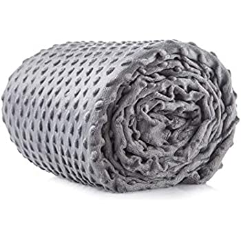 Cooshi Weighted Blanket Cover - 16 Ties - Soft and Machine Washable (Grey, 80 x 87)