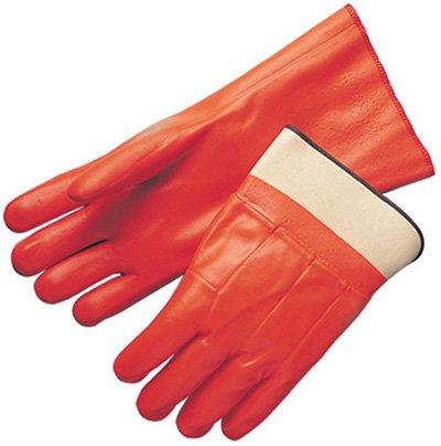 B.A.G.G. Dipped Orange Leather COATED Work Glove - 2