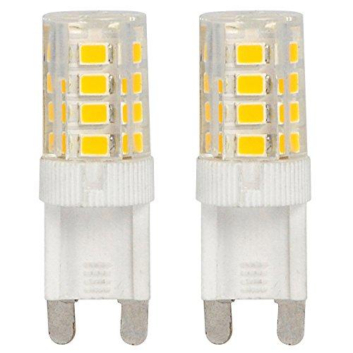 ACCKA 2-Pack Mini G9 LED 3W 110V-130V AC Warm White LED Light Bulbs 20W Incandescent Bulb Equivalent 2700K (Light Break Outdoor 3w)