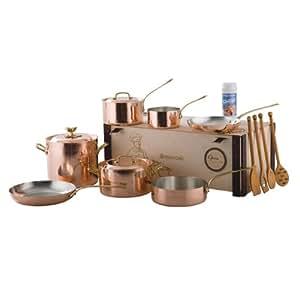 Ruffoni 10 Piece Copper Opera Cookware Set
