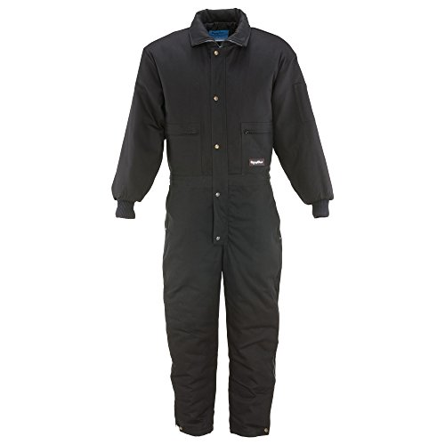 - RefrigiWear Men's ComfortGuard Water-Resistant Insulated Coveralls with Cotton Denim Outershell (Black, 5XL)