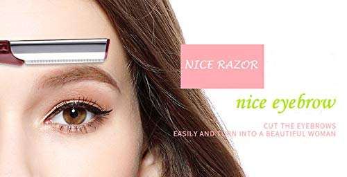 New Style Eyebrow Razor - Facial Hair Trimmer 3 PCS, Portable - Ergonomics Design Non-Slip Handle - Personal Hair Removal Shaper with Micro Blade Guard for Women.Touch-up Makeup Tool Kit Shaver UMOGI