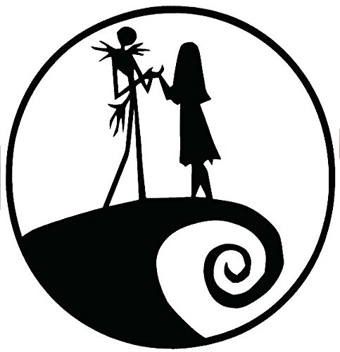 Jack and Sally Nightmare Before Christmas Black Decal Vinyl