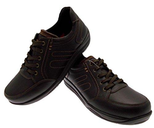 cuir marron art lacets de sport ALICANTE