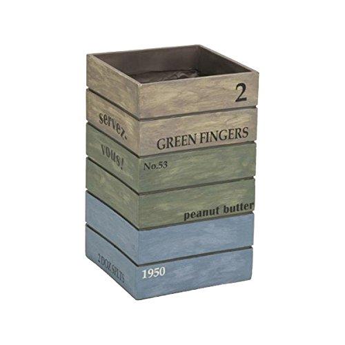 セトクラフト 傘立て(Antique Box) スタッキングブルーSR-0821-BL B014VW6U8I ブルー ブルー
