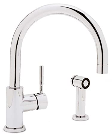 Blanco 440009 Meridian Single Lever Kitchen Faucet With Metal Side Spray,  Chrome