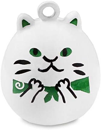 AYANOKOJI ネコ水琴鈴 在庫商品 (ドロボウ白猫) ストラップ キーホルダー スマホ 鈴 動物 猫 ねこ
