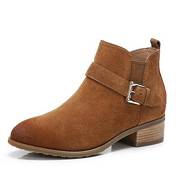 Brown Fashion Shoes Women'S RTRY Black Casual EU37 US6 Boots 5 UK4 For Boots Leather 5 Fall CN37 5 Nubuck 7 Winter YfYwP