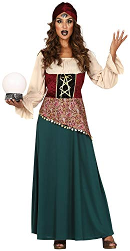 Ladies Fortune Teller Gypsy Circus Carnival TV Film Halloween Fancy Dress Costume Outfit UK 8-16 (UK 10-12 (US 6-8))