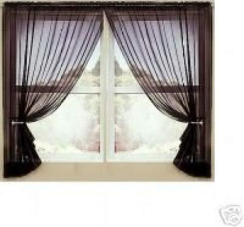 amazon com editex set of 2 84 long red sheer voile curtains rh amazon com