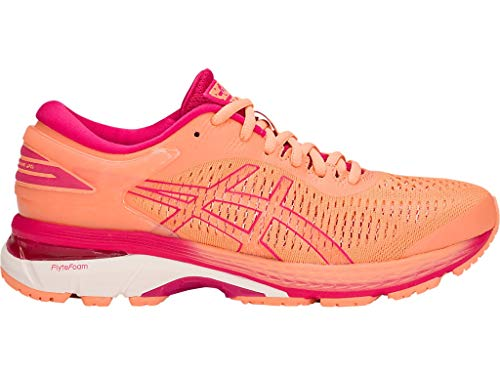 ASICS Women's Gel-Kayano 25 Running Shoes, 11.5M, Mojave/White
