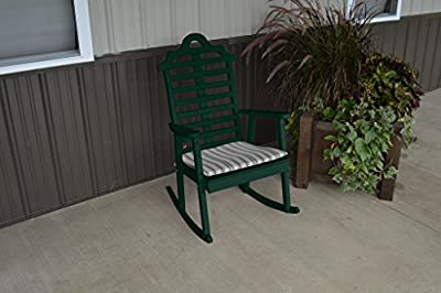 Pine Country Outdoor Marlboro Porch Rocker Amish Made USA- Dark Green Paint