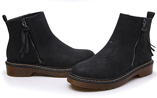 Chelsea Femme Boots Wuiwuiyu Wuiwuiyu Noir Boots gwP8vxt