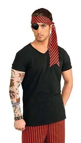 Pirate Tattoo Sleeve Arm Wear Accessory for Sailor Buccanneer Fancy Dress Arm Wear by Partypackage Ltd