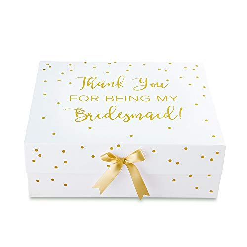 Kate Aspen 28439WH Thank You for Being My Bridesmaid Kit Gift Box 0 white, gold