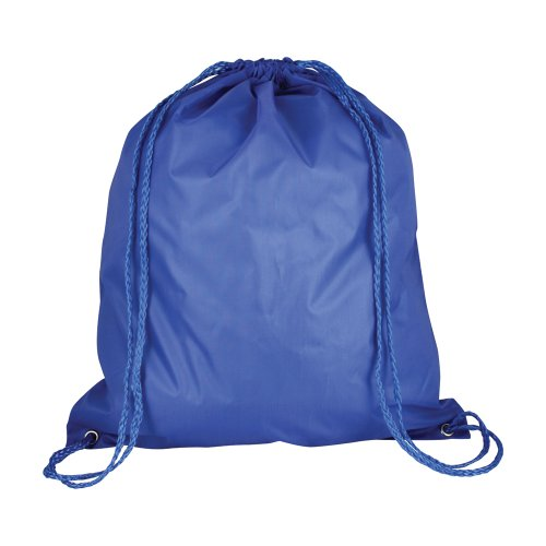 (Ebuy eBuyGB Folding Kids Nylon Drawstring Backpack Bag for Home Gym Travel Storage Sports School (Royal)