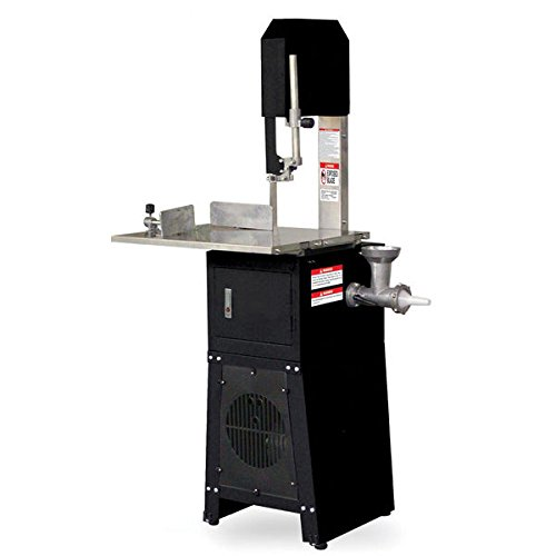 Standing Meat Saw + Grinder | Butcher Cutter Mincer Sausage Stuffer Band Cutting (Meat 550w Grinder)