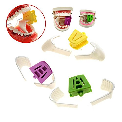 Oral Dentistry Dental Mouth Prop Internal Support Dental Bite Block 3 Size L/M/S Occlusal Pad + 6 pcs Oral Block Tongue Orthodontic Accessories