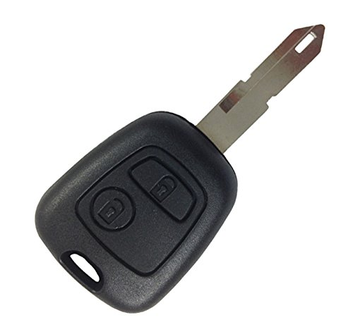 KEMANI New Uncut blank Keyless Remote Entry Fob Shell Car Key Case Button For Peugeot 106 107 206 207 307 406 Replacement
