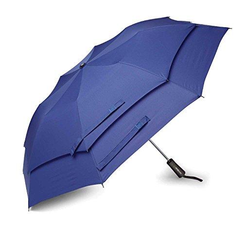 Samsonite Luggage Windguard Auto Open Umbrella, Aqua Blue