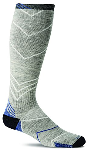 Sockwell Men's Incline Compression Socks, Light Grey, Medium/Large (Best Deal On Sports Shoes In India)