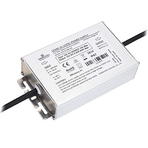12V AC to 12V DC Converter, IP67 Waterproof, 12 Volt AC to DC Rectifier, Low Voltage Transformer 12 Volt AC to 12 Volt DC Rectifier Outdoor 12V AC/DC LED Power Supply