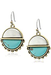 Lucky Brand Turquoise Two Tone Drop Earrings