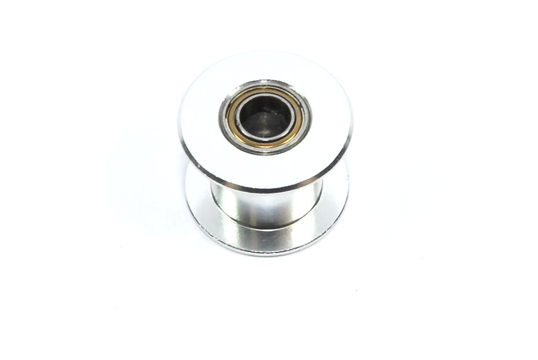 GT2 20T W10 B5 Smooth Roller 10mm Belt Silver CNC Bearing RepRap Unbranded/Generic