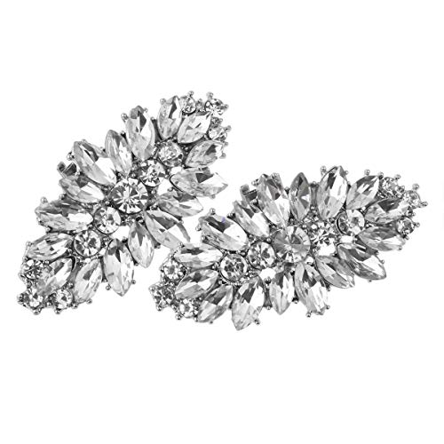 FEESHOW Elegant Rhinestone Crystal Metal Shoe Clips Wedding Party Pack Type C One Size by FEESHOW (Image #2)