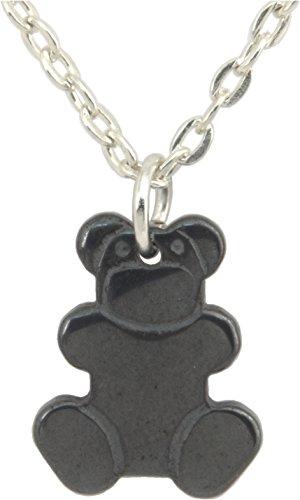Hematite Bear - Pendant, Unisex Hematite Teddy Bear 3/4