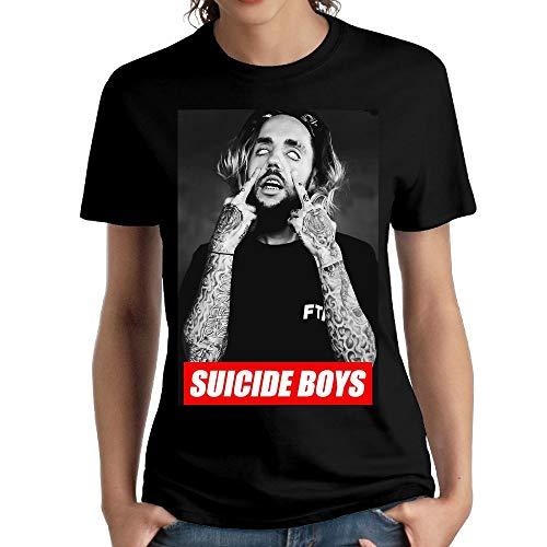 JeffryG Women's Suicide Boys Short Sleeve T Shirt Black XXL