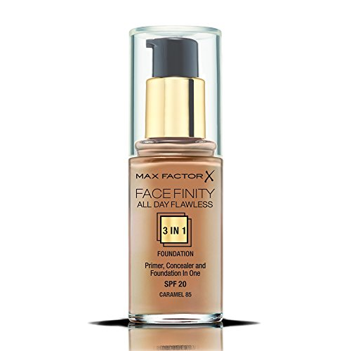Max Factor Facefinity All Day Flawless 3 In 1 Foundation SPF 20, No. 85 (Spf 20 Caramel)