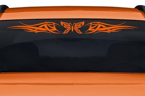 esign #126-01 Butterfly Tribal Windshield Decal Sticker Vinyl Graphic Back Rear Window Banner Tailgate Car Truck SUV Van Go Cart Boat Trailer Wall | 36