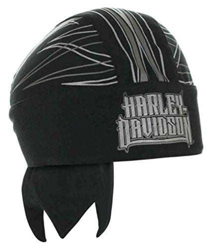 Harley-Davidson Men's Spiked H-D Text Reflective Headwrap, Black HW20875 from Harley-Davidson