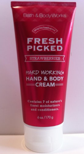 Cheap Bath & Body Works Fresh Picked Strawberries Hand & Body Cream 6 Oz