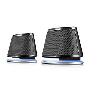 Satechi® Dual Sonic Speaker 2.0 Channel Computer Speakers (Black) for Apple Macbook Pro , Air / Asus / Acer / Samsung / Dell/ Toshiba / HP / Sony Vaio and More