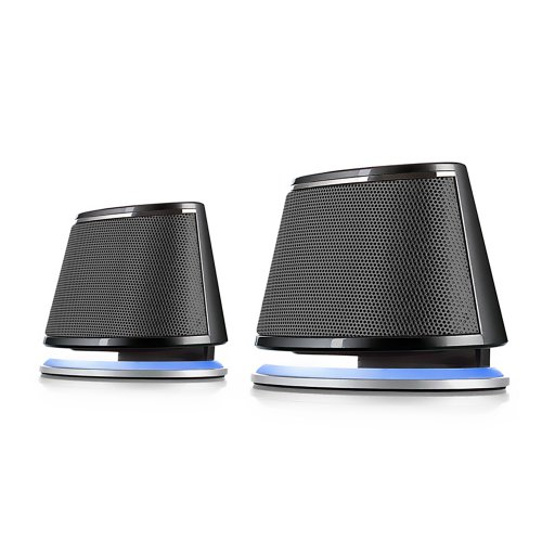 Satechi Dual Sonic Speaker 2.0 Channel Computer Speakers (Black) for Apple Macbook Pro , Air / Asus / Acer / Samsung / Dell/ Toshiba / HP / Sony Vaio and More