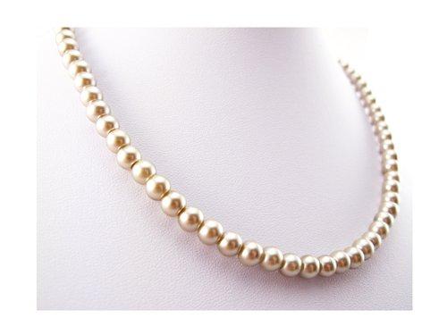 cca676f668a38 GEMSTONERIVER® Light Mocha Brown Taupe Pearl Necklace & Earrings SET - UK  Designer Handmade Earrings - Handmade in UK
