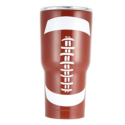 E-FirstFeeling Tumbler 30 oz Stainless Steel Vacuum Insulated Cup Travel Mug with Lid (Football)